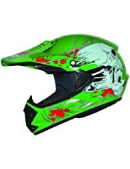 Kids Pro Kinder Crosshelm Grün Größe: XS 53-54cm Kinderhelm Kinder Cross BMX MX Enduro Helm