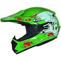Kids Pro Kinderhelm Crosshelm Schutzhelm Motorradhelm Quadhelm Kinder Cross BMX MX Helm (S 53/54cm, Grün)