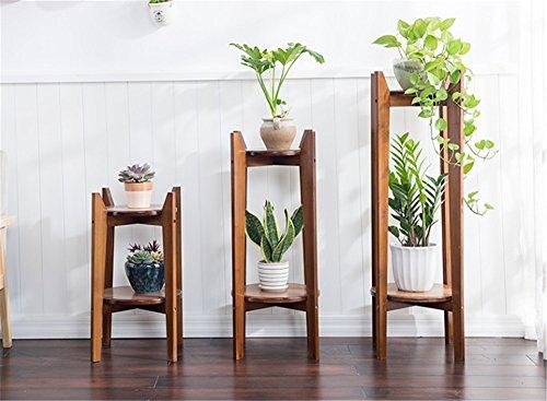 Salon fleur supports panier fleur supports intérieur multi-couche solide bois bambou plante bonsaï ( Taille : Combination )