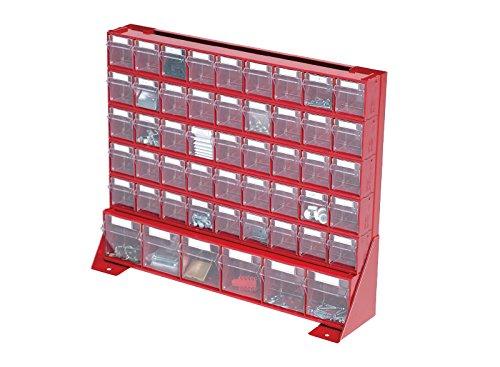 Mobil plastica cestino per madia Panca Stand, colore: rosso, taglia: L = 150mm x W = 610mm x H = 500mm