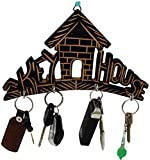 #9: SKAVIJ Key Holder for Home Wooden Wall Mounted Key Rack Hanger