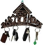 #1: SKAVIJ Key Holder for Home Wooden Wall Mounted Key Rack Hanger
