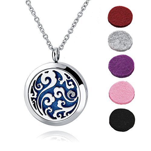 long-way-essential-oil-diffuser-necklace-locket-jewelry-with-316l-surgical-steel-24chain-and-6-refil