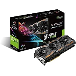 Asus GeForce ROG STRIX-GTX1070-8G-Gaming Scheda Grafica da 8 GB, DDR5