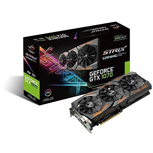 Asus GeForce ROG STRIX-GTX1070-8G-Gaming Scheda Grafica da 8 GB, DDR5