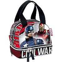Marvel Iron Man E Capitan America Guerra civile giustizia per la scuola (Rosso)