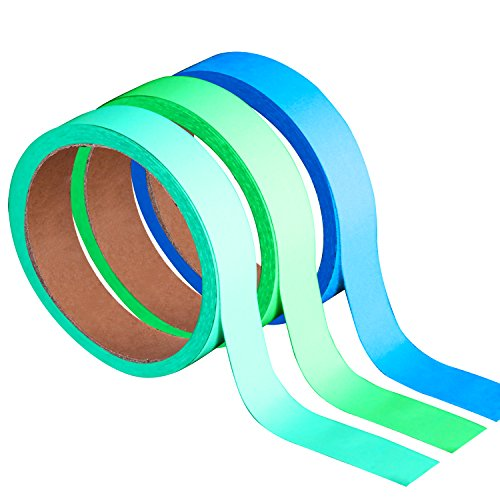 n der Dunkelheit, Leuchtband Luminescent Glow Abnehmbare wasserdichte Band 49,2 Füße x 0,8 Zoll/ 15 m x 2 cm komplett für Wände, Schritte, Exit-Zeichen (Glow Tape)