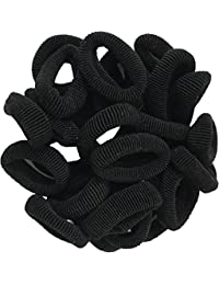 Shop & Shoppee Pack Of Medium Size Soft Hair Rubber Bands Rubber Band (Black)