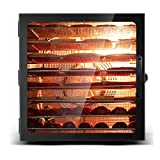 ZYFA Commercial Stainless Steel Food Dehydrator- Adjustable Timer and Temperature Control,for Jerky,Fruit,Vegetables&Nuts,8 Drying