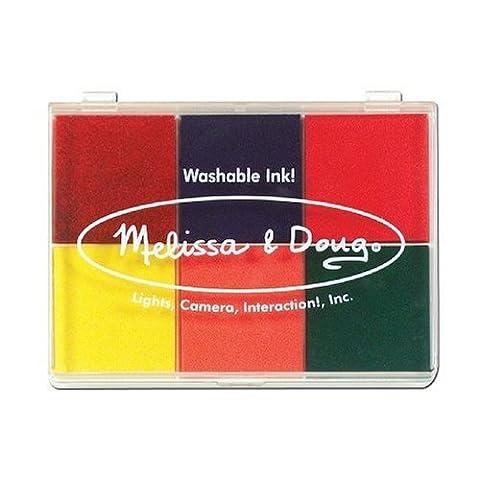 Melissa & Doug Rainbow 6 Color Stamp Pad, Model: 1637, Toys & Gaems