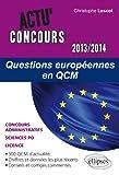 Lire le livre Questions Européennes QCM 2013-2014 gratuit