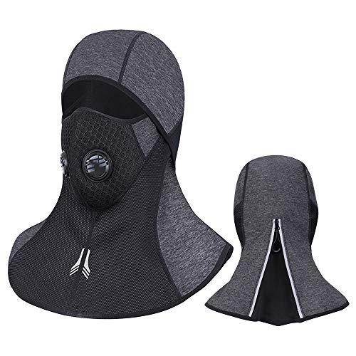 Laxus Máscara de cara pasamontañas, Máscara de cara completa de esquí respirable a prueba de viento para Ciclismo Deportes Casco de moto y calentador de cuello de inviern Hombres