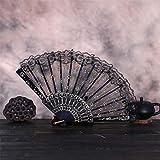 FeiliandaJJ 2PCS Chinesischer Stil Faltfächer Handfächer Damen Elegant Spitze...