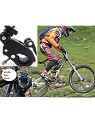 Equipster–Soporte de bicicleta para trípode/Tubo de Asiento de/AHDBT-301GoPro para GoPro Hero 43+ MTB Cube Trek Black Edition–Especialmente resistente y estable con cierre rápido Cierre