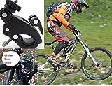 Fahrradhalter Fahrradstativ Lenker-/Sitzrohr-/Stangenhalterung für GoPro Hero 4 3+ Mtb Cube Trek Black Edition - besonders robuste und stabile Ausführung mit Schnellspanner Verschluss