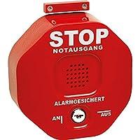 STI Exit-Stopp Türwächter, 97 dB, rot, 13 x 13 x 47 cm aus Kunststoff