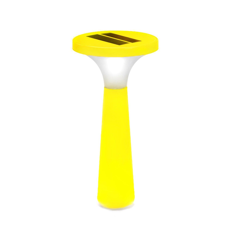 Outlook Design V6P0200059 Aton Small Lampada da Giardino a Carica Solare Gialla, Accensione e spegn