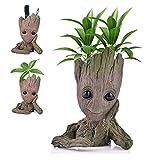 Udream Baby Groot Blumentopf Figur - Übertopf Groß Aquarium Deko Figur Holz Aschenbecher Stiftehalter - Innen