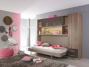 Jugendzimmer in sanremo eiche hell nb absetzg lavagrau for Jugendzimmer amazon