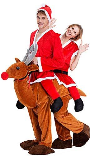 YOU LOOK UGLY TODAY Erwachsene Aufsitzkostüme Huckepack Weihnachten Kostüme Spaß Kostüme Straßenkarneval (Kostüme Erwachsenen Weihnachten)