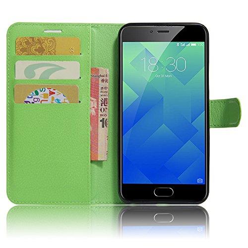 GARITANE Meilan 5/Meizu M5 Hülle Case Brieftasche mit Kartenfächer Handyhülle Schutzhülle Lederhülle Standerfunktion Magnet für Meilan 5/Meizu M5 (Grün)