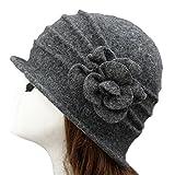 TININNA Autunno e Invernale Moda Caldo Elegante Cappello di lana pura  Bombetta Berretto classici per le 164464aa5c9b