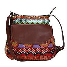 d2741b347a835 Lychee Bags Women's Canvas Haley Sling Bag (LB20RD, Red, Green, Sky Blue