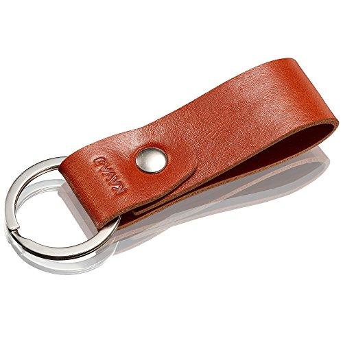 Preisvergleich Produktbild KAVAJ Leder Schlüsselanhänger Bilbao Cognac-Braun aus echtem Leder - Echtleder Anhänger mit hochwertigem Ring - Geschenkidee für Damen und Herren