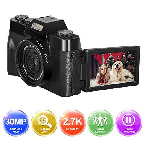 Appareil Photo numérique 1080P Full HD Camera 30.0MP Youtube Appareil Photo numerique Youtube Écran de Poche 3 Pouces Zoom numérique 16X avec Objectif Grand Angle Appareil Photo Compact