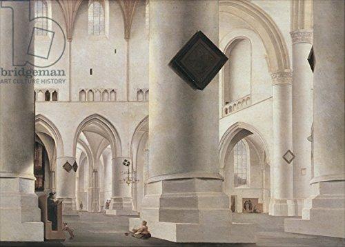 "Leinwand-Bild 30 x 20 cm: ""Interior of the Grote Kerk, Amsterdam, c.1637 (oil on wood)"", Bild auf Leinwand"