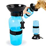 18OZ Travel Sport Water Bottle Outdoor Feed Drinking Bottle Pet Supply Portable For Dogs and cat (Bule)