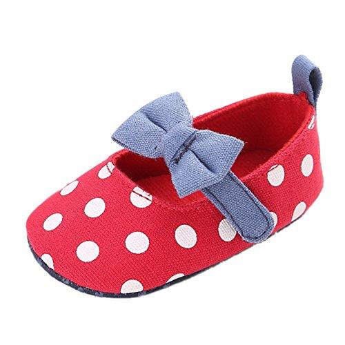 leap frog  Polka Dots Mary Jane, Baby Mädchen Lauflernschuhe Rot