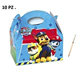 IRPot - 10 SCATOLE BOX PAW PATROL COMPLEANNO BAMBINO BAMBINI GADGET REGALO SWEET