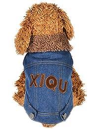 Ropa para Mascotas,Gusspower Vaquero Mascotas Perros Chaqueta Abrigos Abrigo de algodón de Mezclilla Estilo Cool Cálido Invierno