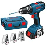 'Bosch GSB 18 – 2-LI Pistol Grip Drill Lithium-Ion (Li-Ion) 1.3 Ah 1500 g Black, Blue, Red – Cordless Combi Bohrer (Pistol Grip Drill, Drilling, Impact Drilling, Screwdriving, Black, Blue, Red, 1/2, 8 mm, 2.9 cm)