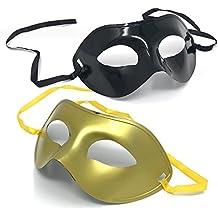2 Mascaras Venecianas – Mascara tipo Antifaz de Mascarada– Ideal para Celebración, Decoración y Decorado de Halloween, Fiesta de Disfraces, Carnaval, Festival