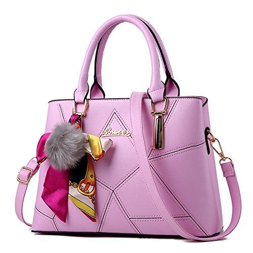 LiZhen autunno e inverno nuova donna elegante confezione messenger ha vinto solo borse tracolla, pacchetti di grandi dimensioni borsa pacchetto minimalista, grande marea rossa Ricamati il filo rosa