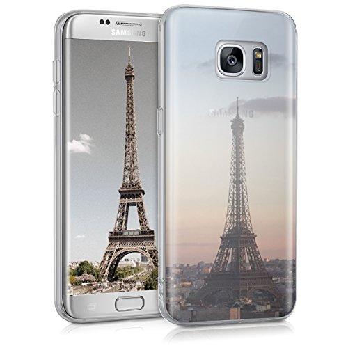 kwmobile Samsung Galaxy S7 Edge Hülle - Handyhülle für Samsung Galaxy S7 Edge - Handy Case in Anthrazit Rosa Transparent