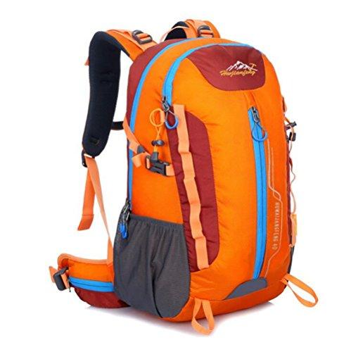 Wmshpeds Zaino alpinismo uomini e donne sport borsa a tracolla a piedi staffa campeggio outdoor borsa da viaggio B