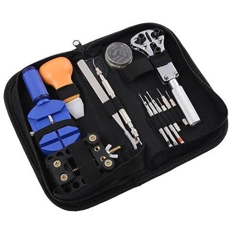 home-organizer Tech das 13-teilige Uhren-Reparaturset, Öffner Link Entferner Spring Bar Werkzeug (Deluxe Eyeglass Repair Kit)