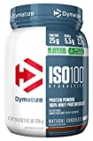 Natural Chocolate, 1.6 lbs: Dymatize ISO 100 Whey Protein Powder Isolate, Natural Chocolate, 1.6lbs
