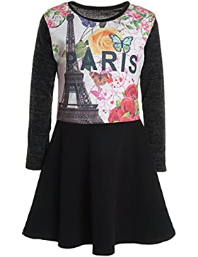 Mädchen Kinder Spitze Winter Kleid Peticoatkleid Festkleid Lang Arm Kostüm 20918