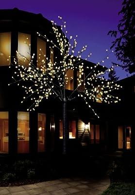 LED Baum Lichterbaum beleuchtet weiß Lichterzweig Lichterkette Weihnachtsbaum 220 cm 500 LED