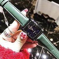 NICEWATCH Relojes, Moda Femenina, personalidades, Estrellas de la Moda, Diamantes, señoras cuadradas, Relojes, Cinturones, Relojes de Cuarzo, Green Belt