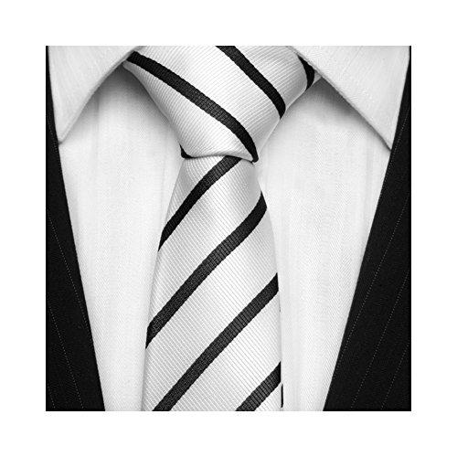 tns-white-black-thin-skinny-tie-neckties