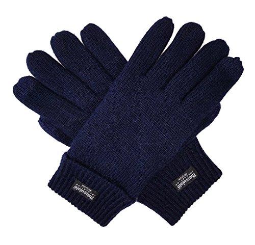 bruceriver-hombres-guantes-de-punto-de-lana-pura-con-forro-thinsulate-talla-s-m-armada-touchscreen