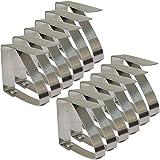 Set di 8regolabile in acciaio inox Tovaglia clip Tovaglia clip, morsetti per feste in casa e picnic