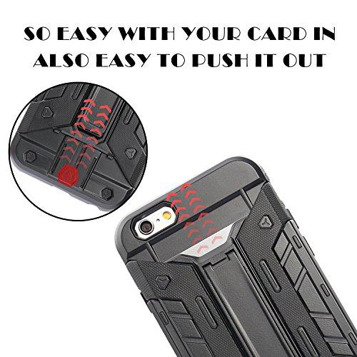 Fogeek - Coque protectrice hybride pour iPhone 6S Plus - porte-cartes anti chocs protection bouclier - double épaisseur - 14cm (5,5'') avec béquille intégrée - design Transformers A