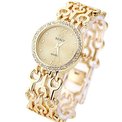 Frauen Uhren,Damen Armbanduhren Günstige Uhren Damen Casual Analoge Quarz Uhr Luxus Edelstahl Armband Uhren Mode Sport Armbanduhr Business Uhr für Mädchen Frau Damenuhr