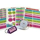 Pack de 146 etiquetas para marcar ropa y objetos. (Paleta 9) 50 etiquetas de...